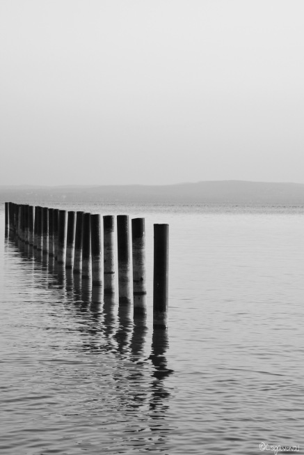 Balaton lake in January. photo taken by Csigavonal